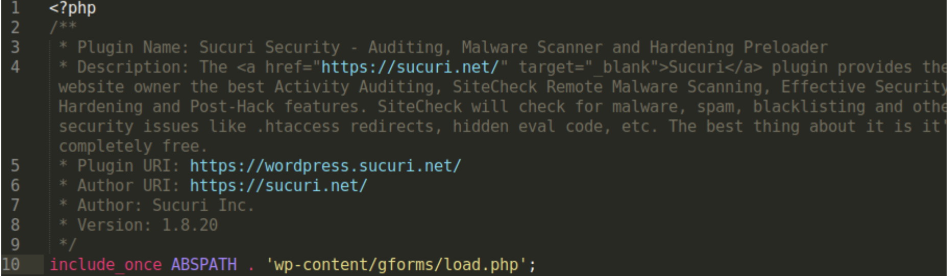 0-sucuri-boot.php: We do not use a file with such a name in our WordPress plugin