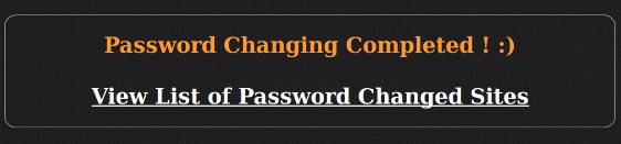 wordpress mass password changer success notification